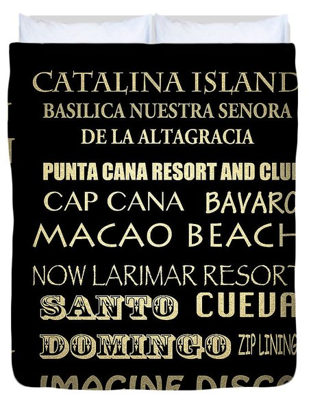 Punta Cana Famous Landmarks Duvet Cover