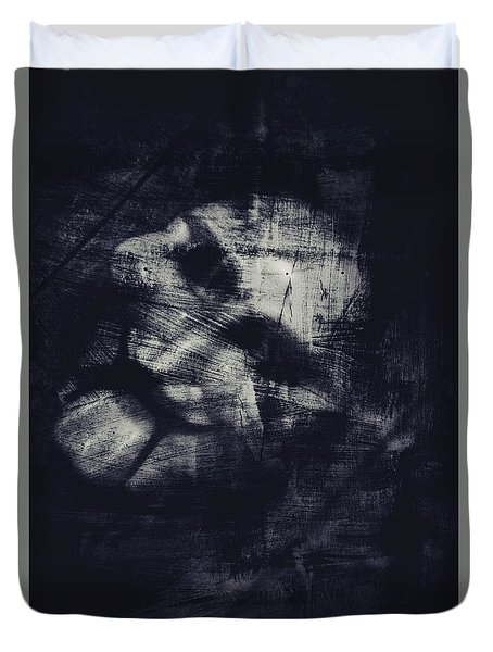 Puppet Mask Behind The Veil Duvet Cover