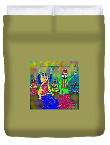 Puppets Duvet Cover by Latha Gokuldas Panicker