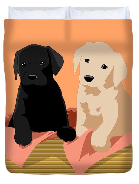 Puppy Basket Duvet Cover