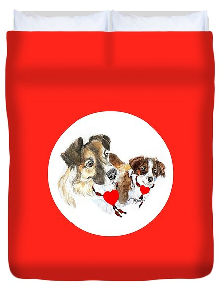 Puppy Christmas Duvet Cover