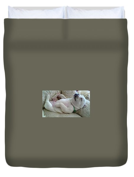 Puppy Dog Dreams Duvet Cover by Russell Keating