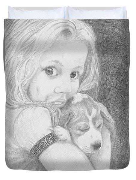 Puppy Dog Eyes Duvet Cover