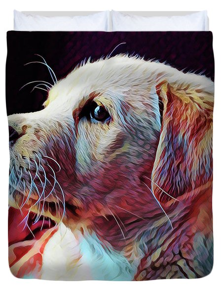 Puppy Dog Duvet Cover by Gary Grayson