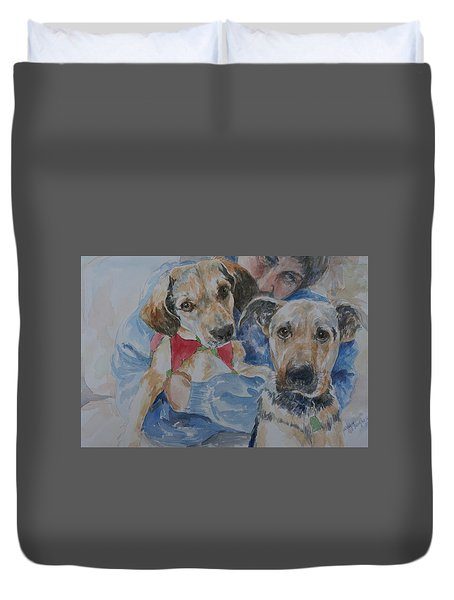 Puppy Love Duvet Cover by Gloria Turner