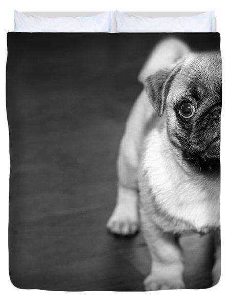 Puppy - Monochrome 2 Duvet Cover