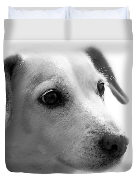 Puppy - Monochrome 4 Duvet Cover