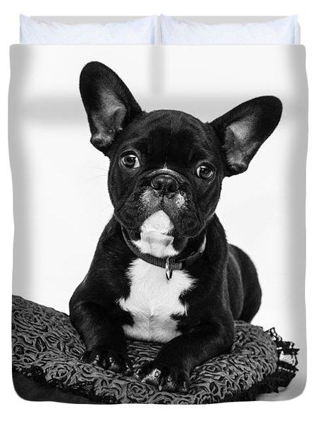 Puppy - Monochrome 5 Duvet Cover