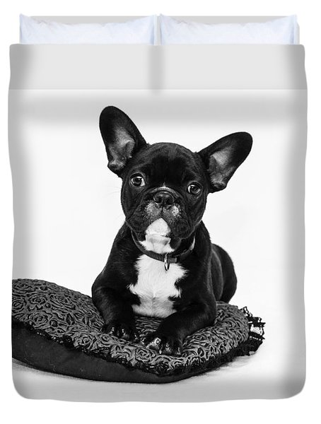 Puppy - Monochrome 5 Duvet Cover
