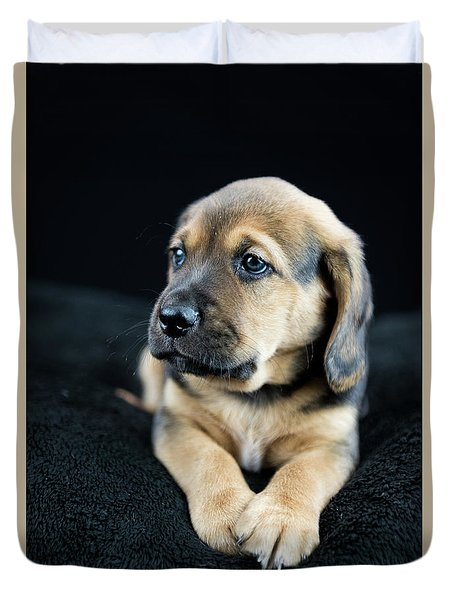 Puppy Portrait Duvet Cover