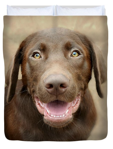 Puppy Power Duvet Cover by Kathy M Krause