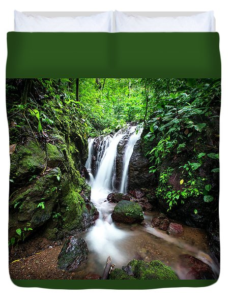 Pura Vida Waterfall Horizontal Duvet Cover