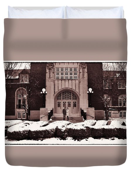 Purdue Engagement Duvet Cover by Coby Cooper