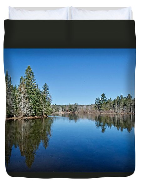 Duvet Cover featuring the photograph Pure Blue Waters 1772 by Michael Peychich