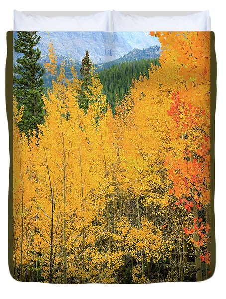 Duvet Cover featuring the photograph Pure Gold by David Chandler