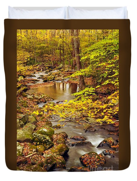 Duvet Cover featuring the photograph Pure Gold by Debbie Green