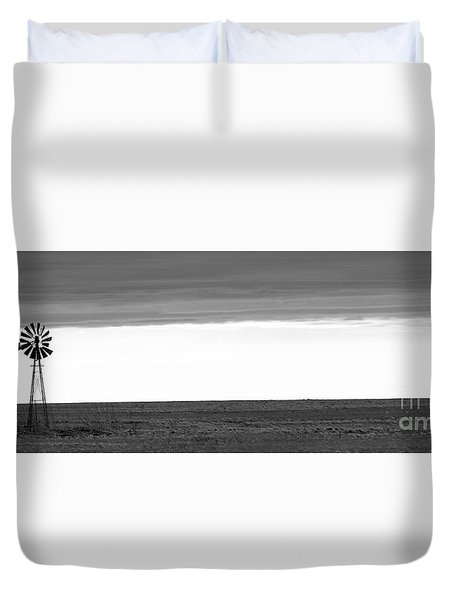 Pure Prairie Windmill Duvet Cover