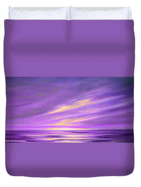 Purple Abstract Sunset Duvet Cover