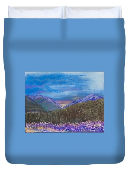 Purple Alaska Duvet Cover