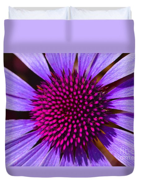Purple And Pink Daisy Duvet Cover