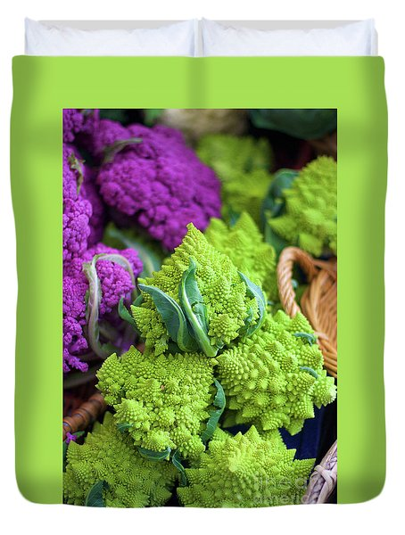 Purple And Romanesco Cauliflower Duvet Cover