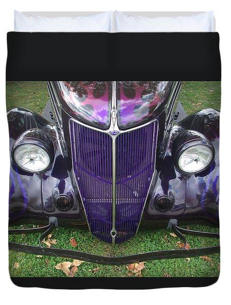 Purple Antique Ford Duvet Cover