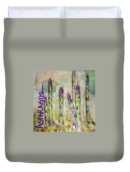 Purple Asparagus Duvet Cover by Kim Nelson