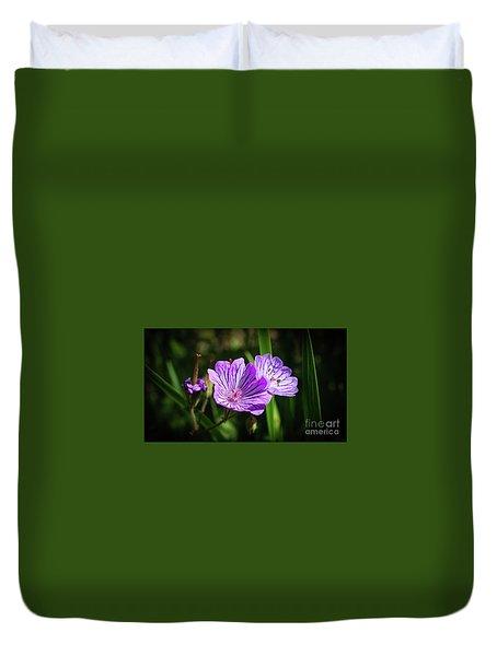 Purple Attraction Duvet Cover