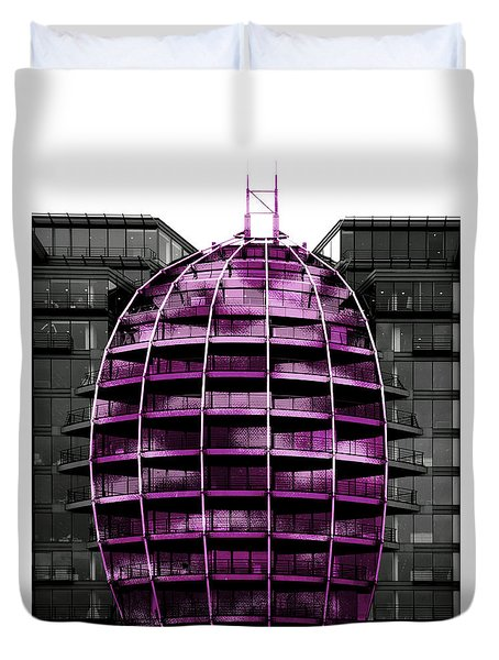 Purple Balloon Duvet Cover