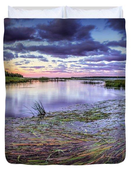 Purple Bay Duvet Cover