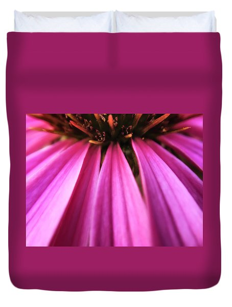 Duvet Cover featuring the photograph Purple Beauty by Eduard Moldoveanu