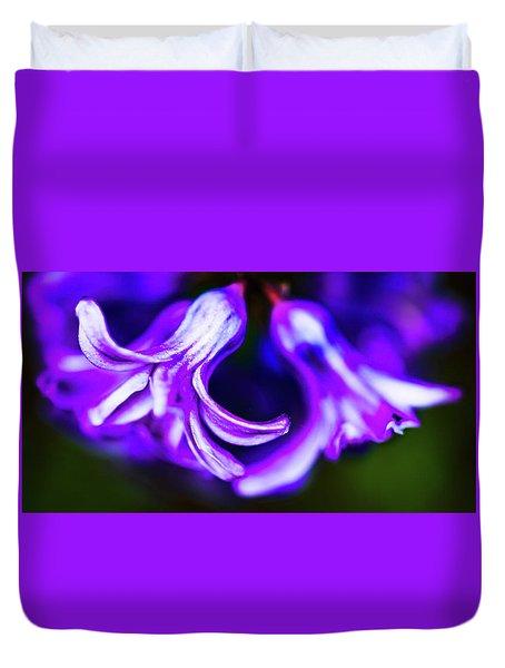 Purple Bells Duvet Cover