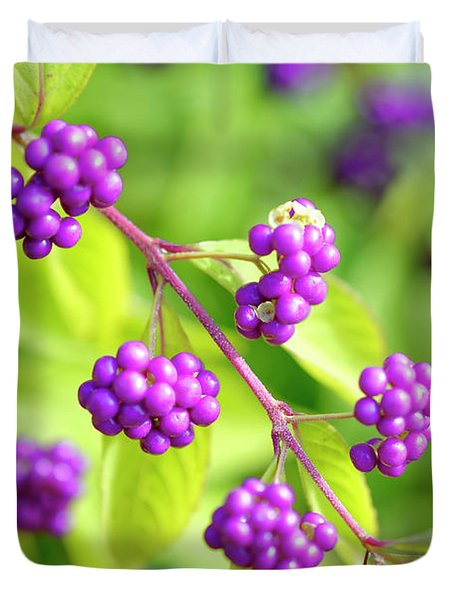 Purple Berries Duvet Cover