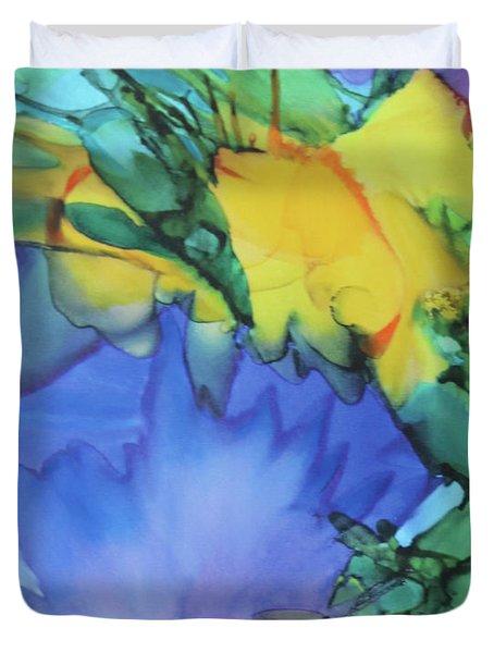 Purple Bird Of Paradise Duvet Cover