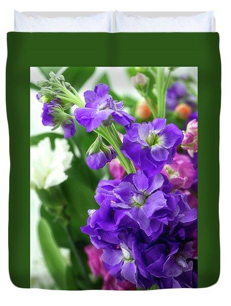 Purple Bouquet Duvet Cover