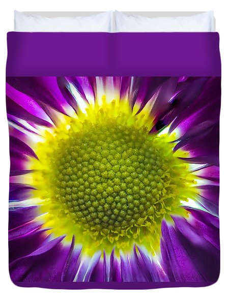 Purple Burst Duvet Cover