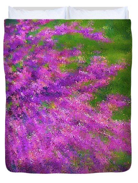 Purple Bush Duvet Cover