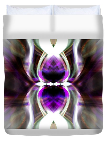 Purple Butterfly Duvet Cover by Cherie Duran