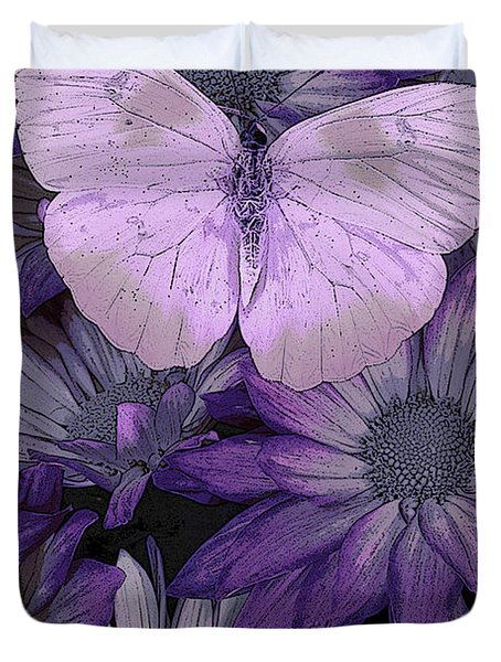 Purple Butterfly Duvet Cover