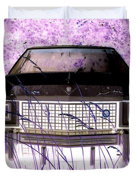 Purple Cadillac Duvet Cover by Julie Niemela