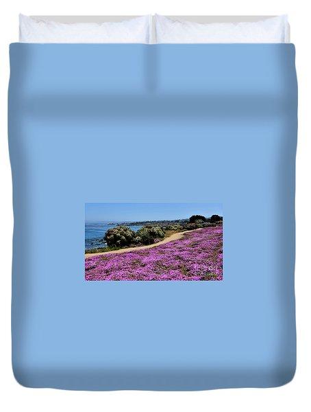 Purple Carpet Duvet Cover by Gina Savage