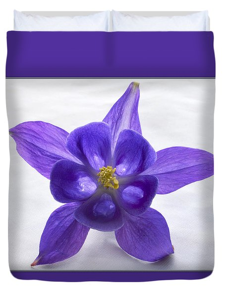 Purple Columbine Duvet Cover