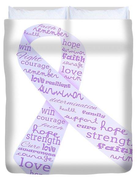 Purple Courage Duvet Cover