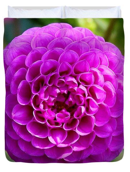 Purple Dahlia Duvet Cover