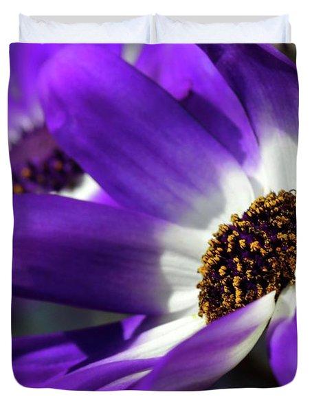 Purple Daisy Duvet Cover by Sabrina L Ryan