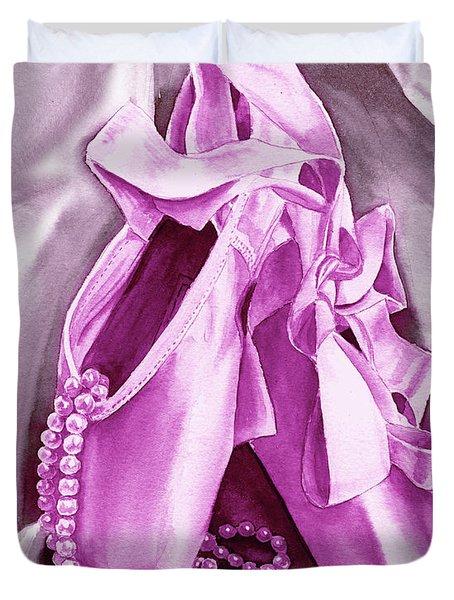 Purple Dancing Shoes Duvet Cover