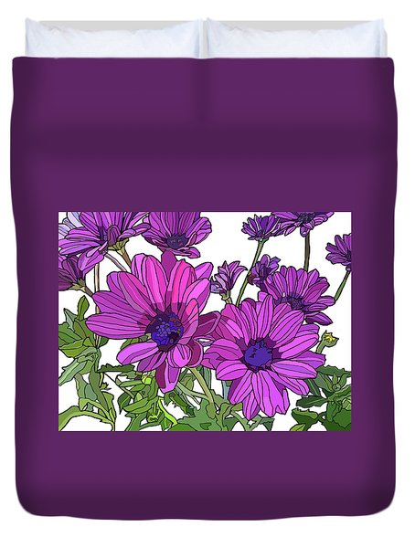 Purple Days Duvet Cover by Jamie Downs