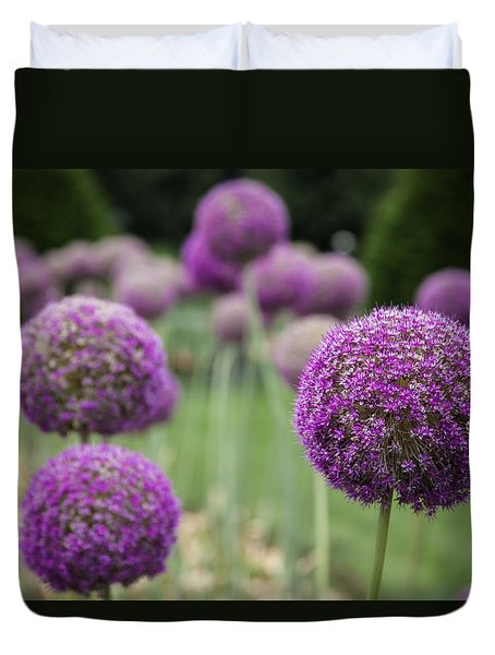 Duvet Cover featuring the photograph Purple Depth by Jason Moynihan