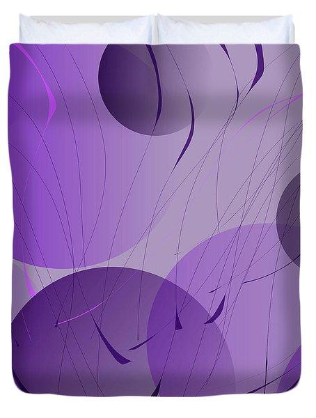 Purple Digital Whimsy Duvet Cover