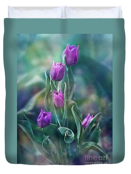 Purple Dignity Duvet Cover by Agnieszka Mlicka